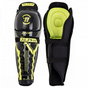 Защита коленей/голени WARRIOR DX5 SR Shin Grd арт.DX5SGSR9-17, р.17, пластик, полиэстер, черно-жел