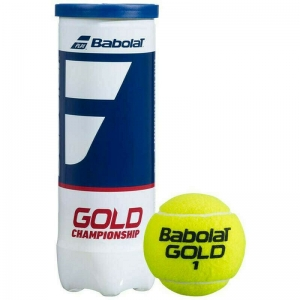 Мяч теннисный BABOLAT Gold Championship 3B,арт.501084, уп.3шт,одобр.ITF,сукно,нат.резина,желт