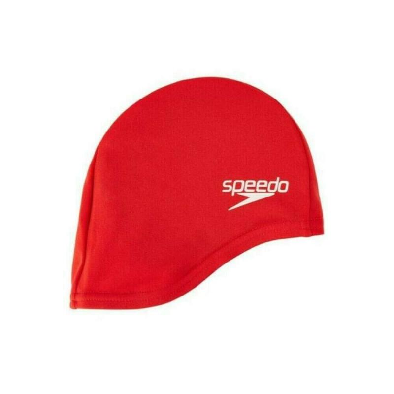 Шапочка для плавания детская  SPEEDO Polyester Cap Jr , арт.8-710110004, КРАСНЫЙ, полиэстер