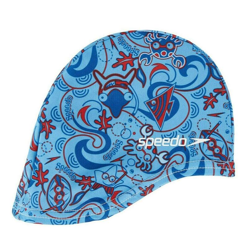 Шапочка для плавания детская  SPEEDO Sea Squad Polyester Cap Jr , арт.8-07997A264, СИНИЙ, полиэстер