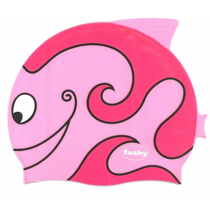 Шапочка для плавания детская  FASHY Childrens Silicone Cap , арт.3048-00-43, силикон, розовый