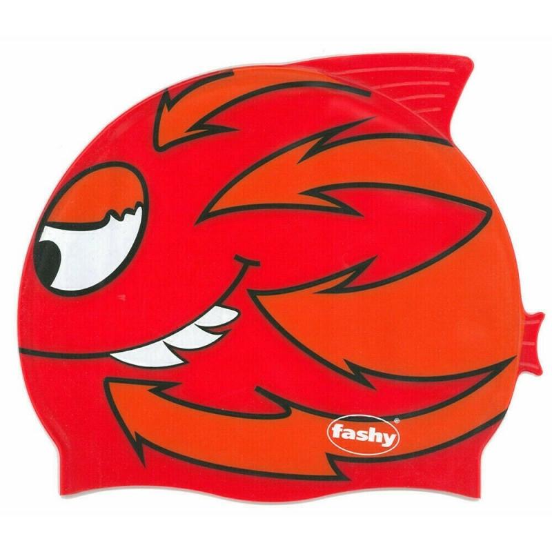 Шапочка для плавания детская  FASHY Childrens Silicone Cap , арт.3048-00-60, силикон, красно-оранжевый 3048-00-63