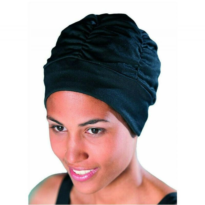 Шапочка для плавания жен. FASHY With Plastic Lining , арт.3403-20, полиэстер, черный