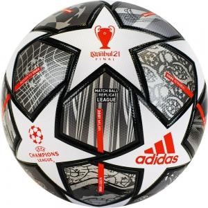 Мяч футбольный  ADIDAS Finale Lge арт. GK3468, р.5, ТПУ, 32 пан.,FIFA Quality, термосшивка, бело-синий