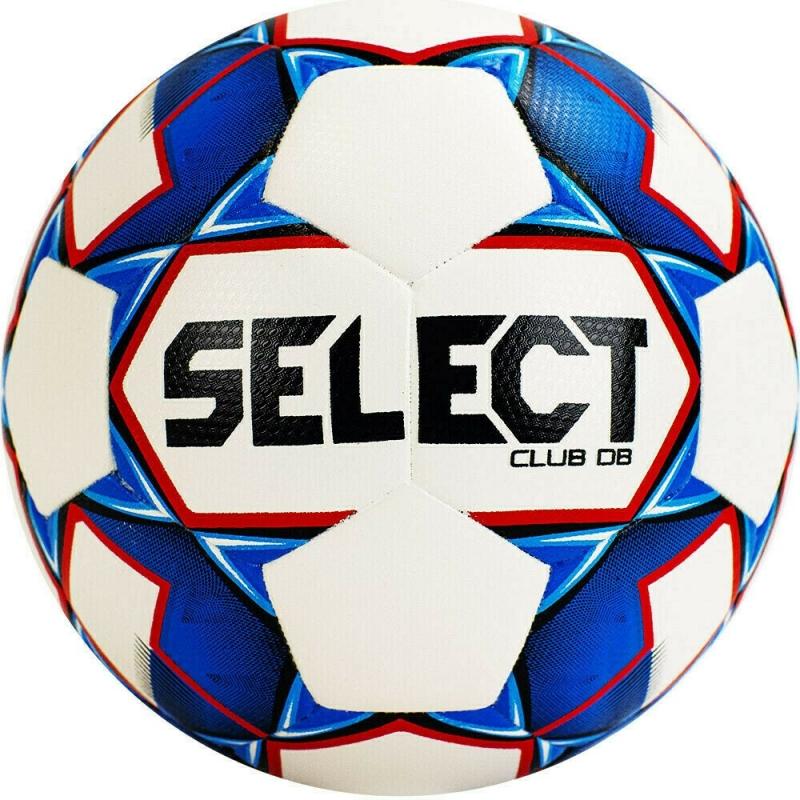 Мяч футбольный  SELECT Club DB арт. 810220-002, р.4, 32п, ТПУ, термо+руч. сш, рез.кам, бело-сине-крас