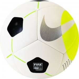 Мяч футзальный NIKE Pro Ball арт.DH1992-100, р.4, FIFA P, 12 пан, мат.ТПУ, маш. сш, бело-желто-черный