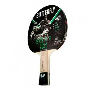 Ракетка для настольного тенниса Butterfly Timo Boll SG11, для начинающих, накладка 1,5 мм ITTF, анатом./кон. ручка