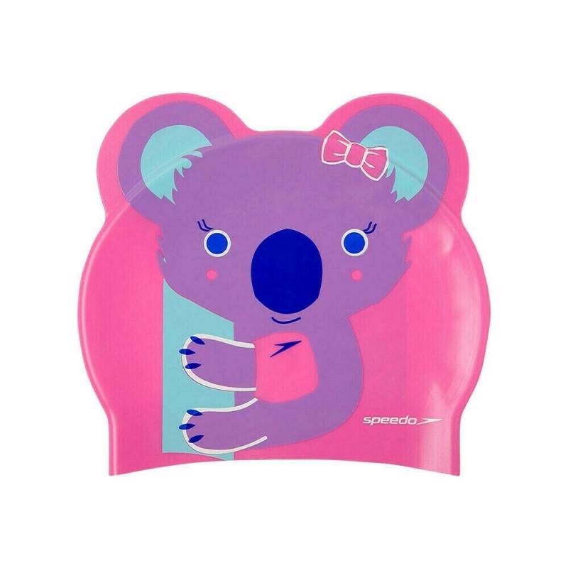 Шапочка для плавания детская  SPEEDO Printed Character Koala Jr , арт.8-12240D681, РОЗОВЫЙ, силикон