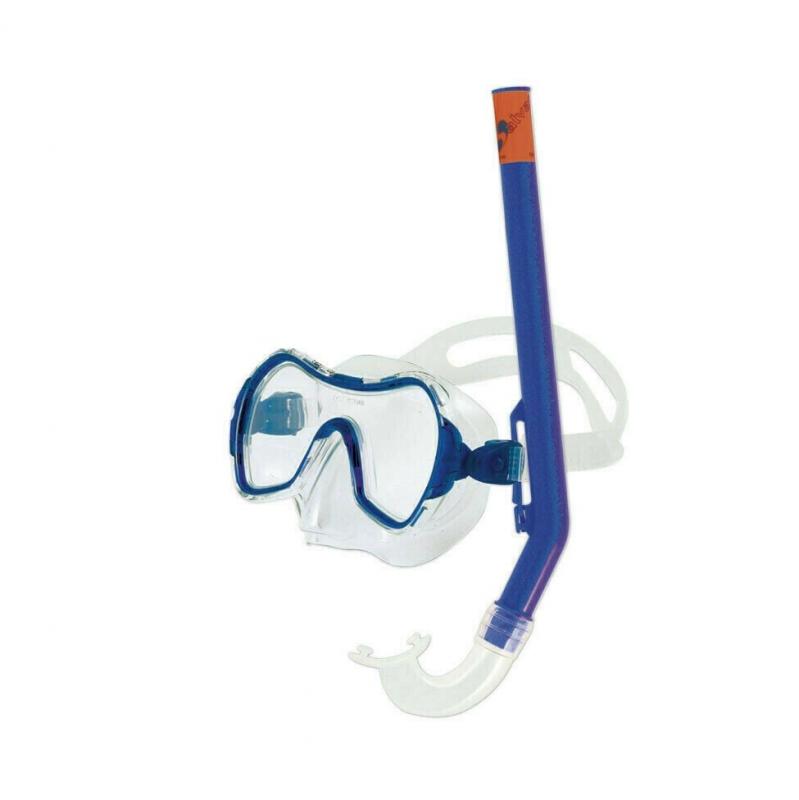 Набор для плавания Salvas Haiti Set , арт.EA530C1TBSTB, р. Medium, синий в сетч. сумке