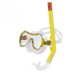 Набор для плавания Salvas Haiti Set , арт.EA530C1TGSTB, р. Medium, желтый в сетч. сумке
