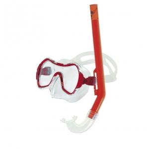 Набор для плавания Salvas Haiti Set , арт.EA530C1TRSTB, р. Medium, красный в сетч. сумке