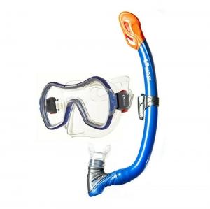 Набор для плавания Salvas Wave Set , арт.EA530S1BYSTB, р. Medium, синий в сетч. сумке