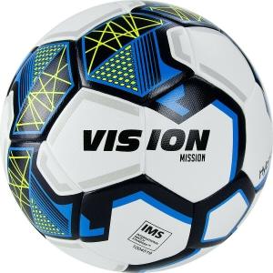 Мяч футбольный  VISION Mission арт.FV321075,р.5, IMS,PU, гибрид. сшив.,бел-синий TORRES