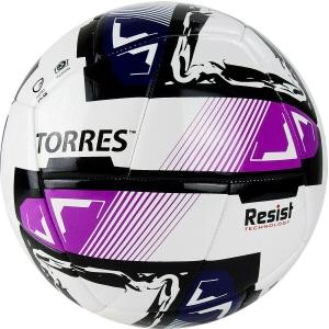 Мяч футзальный TORRES Futsal Resist арт.FS321024, р.4, 24 панели. ПУ, 3 подкл. слоя, белый-мультиколо