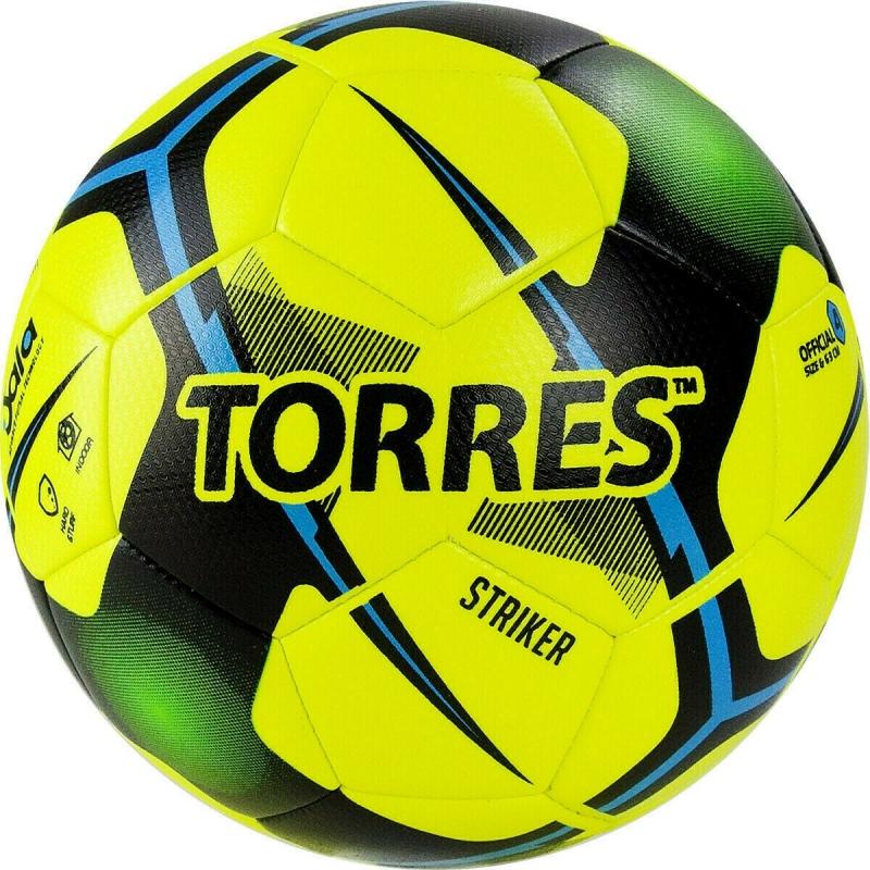 Мяч футзальный TORRES Futsal Striker арт.FS321014, р.4, 30 панели. TPU, 3 подкл. слоя, желтый