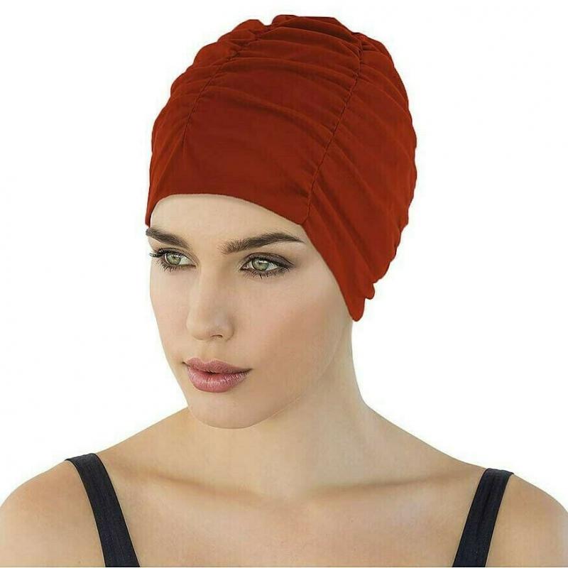 Шапочка для плавания жен. FASHY With Plastic Lining , арт.3401-40, полиэстер, красный