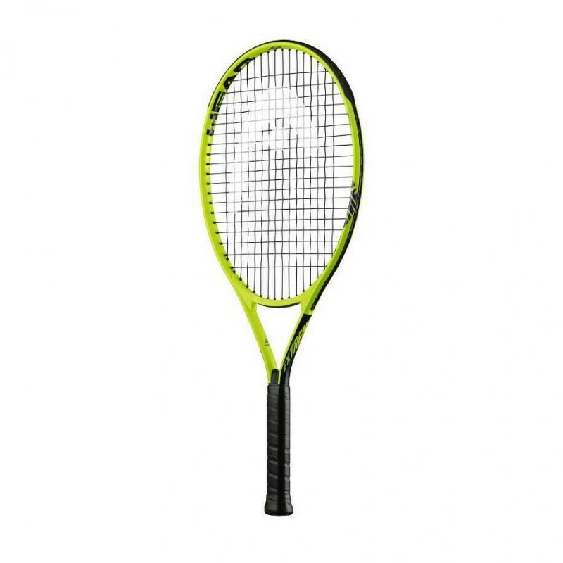 Ракетка теннисная детская HEAD Extreme Jr 25 Gr07, арт.233119, для дет. 8-10лет, композит,со струнами,жел-чер