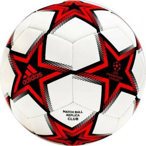 Мяч футбольный  ADIDAS UCL Club Ps арт. GT7789, р.5, ТПУ, 12 пан., машинная сшивка , бело-красно-черный
