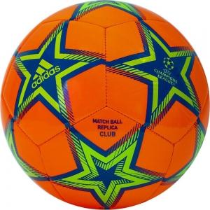 Мяч футбольный  ADIDAS UCL Club Ps арт. GU0203, р.5, ТПУ, 12 пан., машинная сшивка , оранж-сине-зеленый