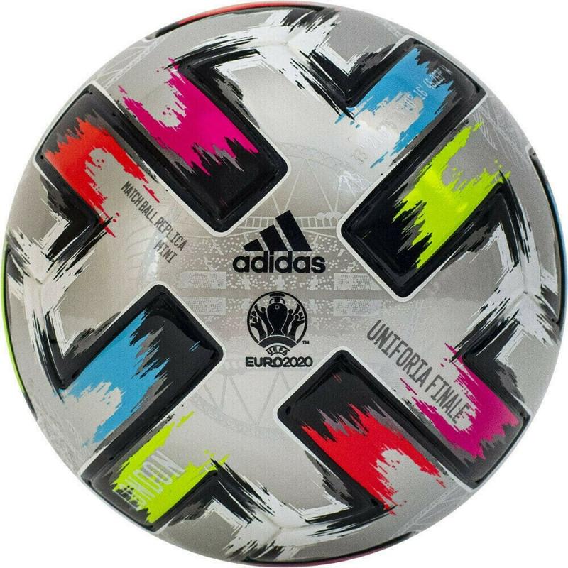 Мяч футбольный сув. ADIDAS Unifo Finale Mini арт. FT8306, р.1, ПУ, 6 пан., термосш., мультиколор