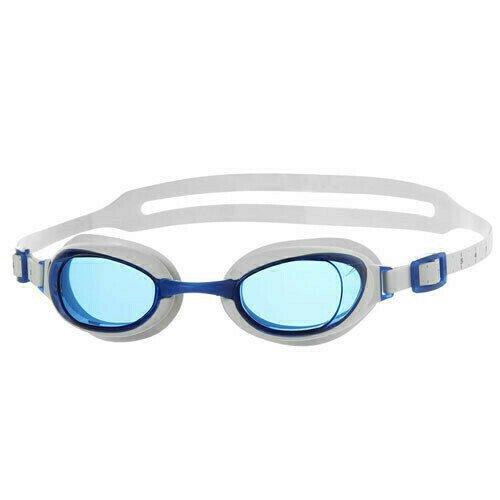 Очки для плавания  SPEEDO Aquapure , арт.8-090027960, СИНИЕ линзы, сменн. переносица, белая оправа 8-074546817