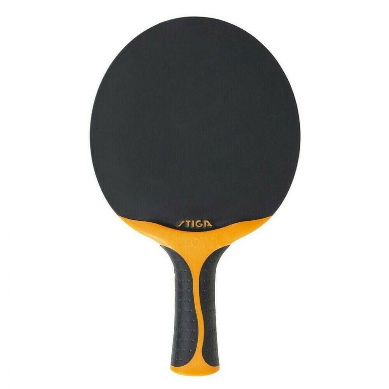 Ракетка для настольного тенниса Stiga Seasons Flow, арт.361013, всепогодная, тренировочная, конич. ручка, черн-оранж