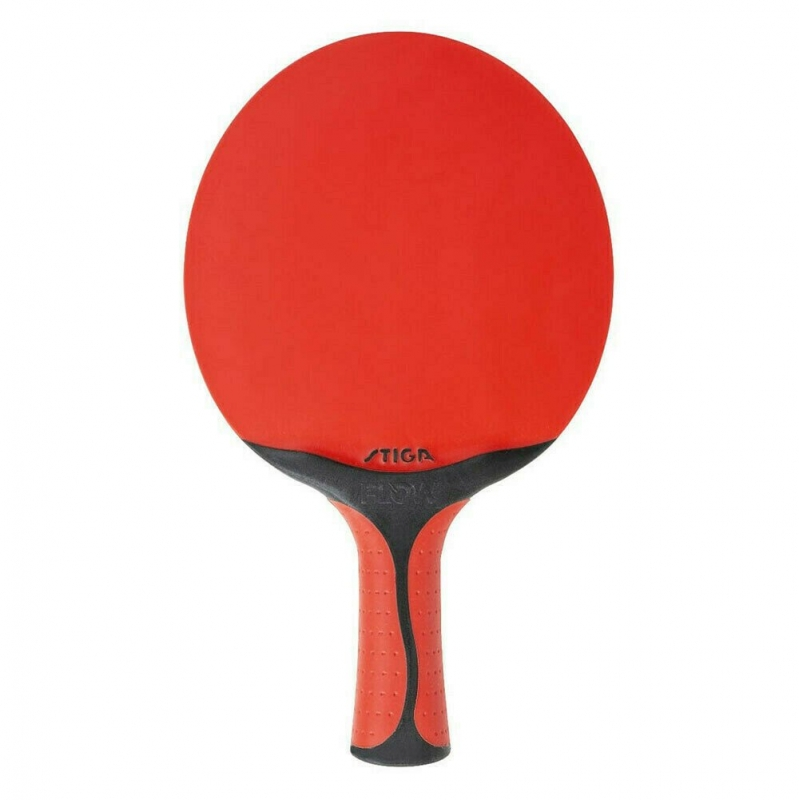 Ракетка для настольного тенниса Stiga Seasons Flow, арт.361051, всепогодная, тренировочная, конич. ручка, красн-черн