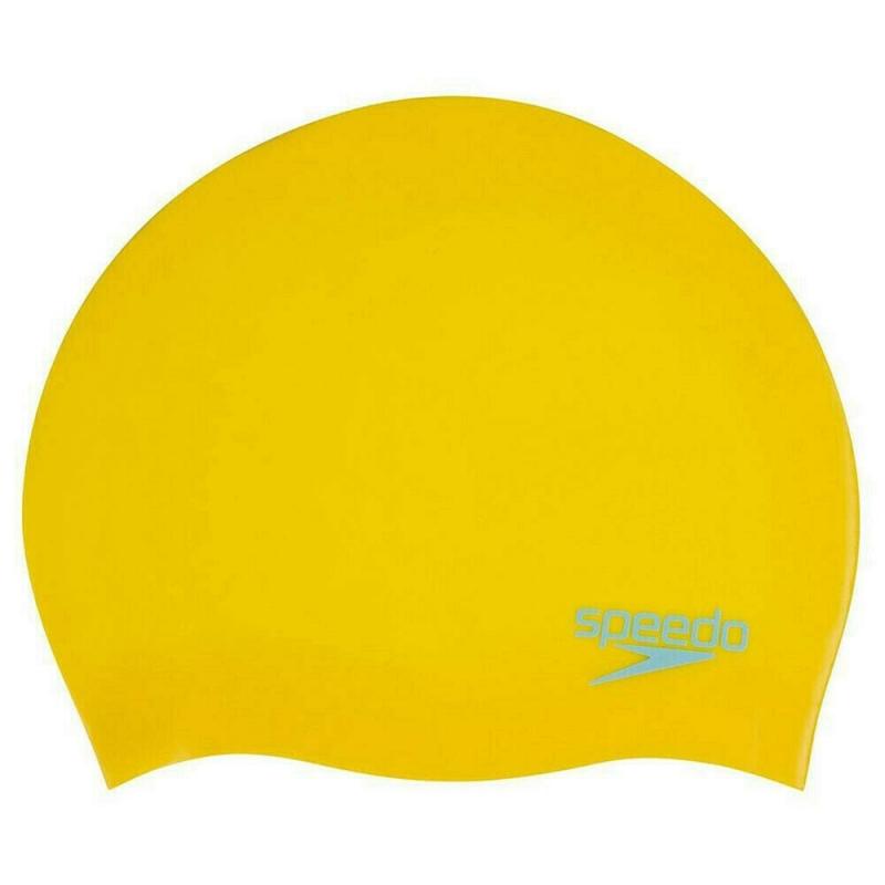 Шапочка для плавания детская  SPEEDO Molded Silicone Cap Jr , арт.8-70990D693, ЖЕЛТЫЙ, силикон