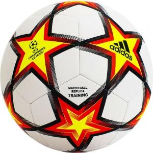 Мяч футбольный  ADIDAS UCL Training PS арт.GU0206,р.5, 12п, ТПУ, маш.сш, бело-красно-желтый