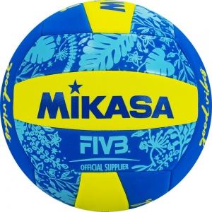 Мяч для пляжного волейбола  MIKASA BV354TV-GV-YB , синтетическая кожа (ТПЕ),машинная сшивка ,18 пан, бутиловая камера , желто-синий