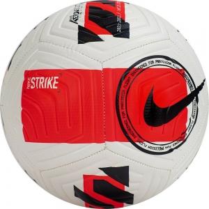 Мяч футбольный  NIKE Strike арт.DC2376-100, р.4, 12 панелей, ТПУ, маш. сш.,бело-красно-черный