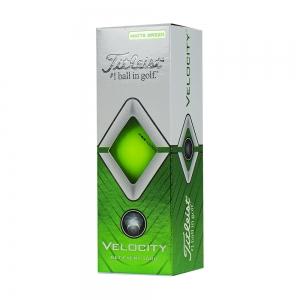 Мяч для гольфа Titleist Velocity, арт.T8025-GR, 3 шт/уп, зеленый