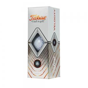 Мяч для гольфа Titleist Velocity, арт.T8025-WT, 3 шт/уп, белый