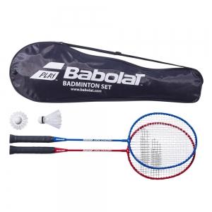 Набор бадм. BABOLAT Leisure Kit x2 арт.620100, в комплекте 2 ракетки + 2 волана (в чехле)