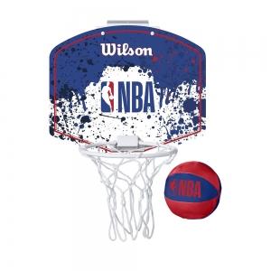 Набор для мини-баскетбола Wilson NBA Team Mini Hoop, арт. WTBA1302NBARD, щит с кольцом, мяч р.1