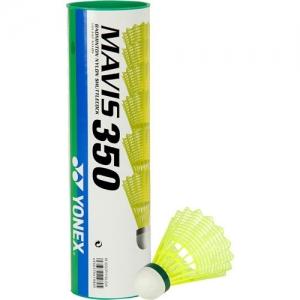 Воланы для бадминтона Yonex Mavis 350 Yellow-Slow (нейлон/пробка), уп.6шт.желт., медл..скор. M-350CYX