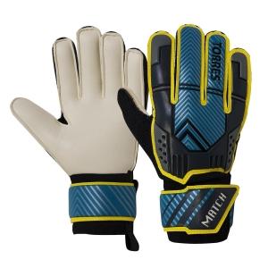 Перчатки вратарские  TORRES Match , арт.FG05216-9, р.9,3 мм латекс,удл.манж.,черно-сине-желтый