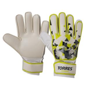 Перчатки вратарские  TORRES Training , арт. FG05214-8, р.8, 2 мм латекс, удл.манж.,бело-зелено-серый