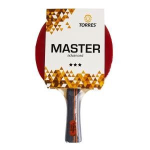 Ракетка для настольного тенниса TORRES Master 3*, арт.TT21007, для тренировок, накладка 2,0 мм, конич. ручка