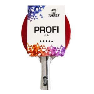 Ракетка для настольного тенниса TORRES Profi 5*, арт.TT21009, для спортсменов, накладка 2,0 мм, конич. ручка