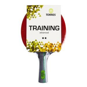 Ракетка для настольного тенниса TORRES Training 2*, арт.TT21006, для любителей, накладка 1,5 мм, конич. ручка