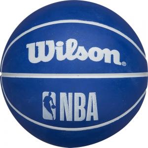 Мяч баскетбольный сувенирный мини WILSON NBA Dribbler NBA Version, арт.WTB1100PDQNBA, р.0, резина, синий