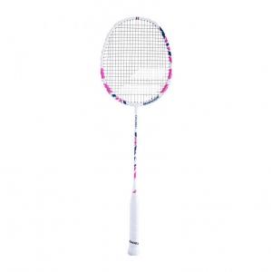 Ракетка для бадминтона Babolat Exploler I, арт.601364-156, для нач.игр.,стал. стерж, алюм. обод, бело-розовый