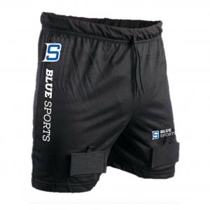 Защита паха Blue Sport Classic Mesh Short арт. B-7410, р.XL, полиэстер, пластик, черно-красная WARRIOR