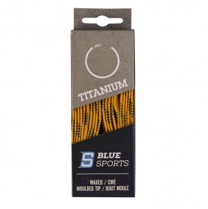 Шнурки для коньков Blue Sports Titanium Waxed арт.902061-YL-274, полиэс, 274 см, желтый WARRIOR