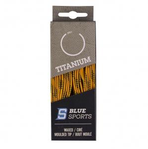 Шнурки для коньков Blue Sports Titanium Waxed арт.902062-YL-304, полиэс, 304 см, желтый WARRIOR