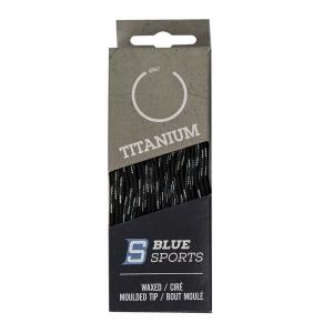 Шнурки для коньков Blue Sports Titanium Waxed арт.902080-BK-304, полиэс, 304см, черный WARRIOR