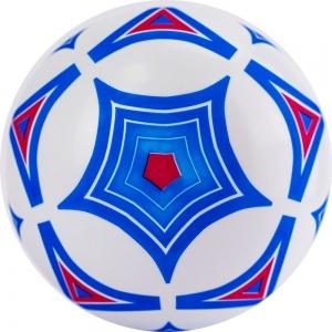 Мяч детский с рисунком Геометрия , арт.MD-23-02, диам. 23 см, ПВХ, бело-голубой PALMON