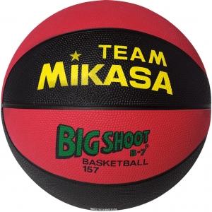 Мяч баскетбольный  MIKASA 157-BR  р.7, резина, бутиловая камера , нейл.корд, красно-черный
