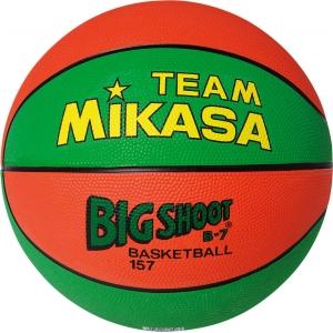 Мяч баскетбольный  MIKASA 157-GO  р.7, резина, бутиловая камера , нейл.корд, зелено-оранжевый